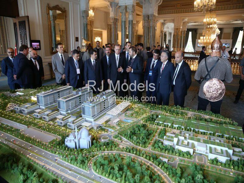 Ronesans Giant Health Campus of building model in Istanbul