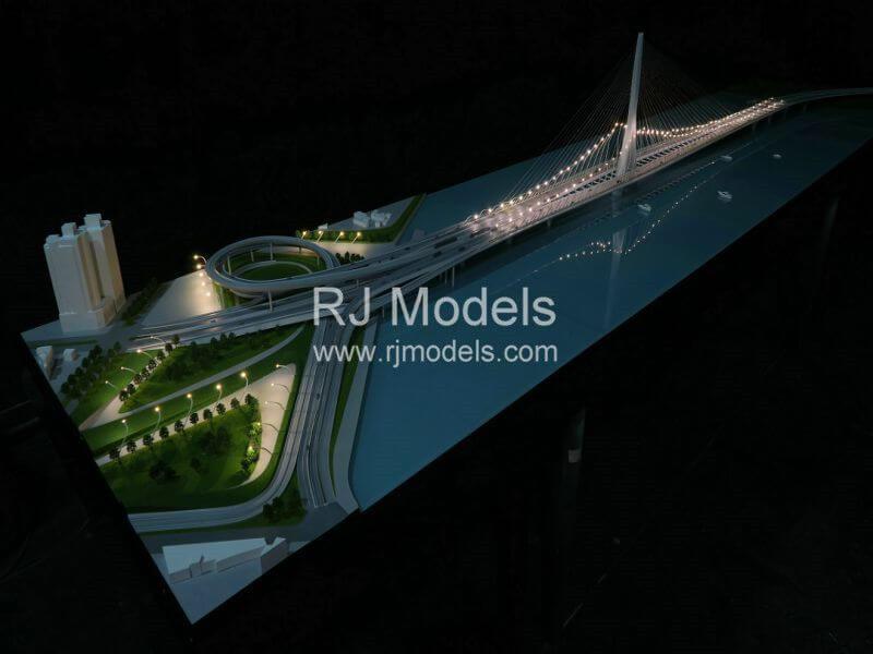 Architectural model building project, Dan jiang Bridge Model in Tai Wan by Zaha Hadid