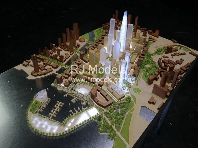 Architectural building model project, Colombo Master Plan Port City Colombo in Sri Lanka