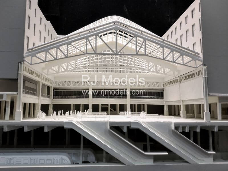 Architectural model building project, Moynihan Station in New York by SOM