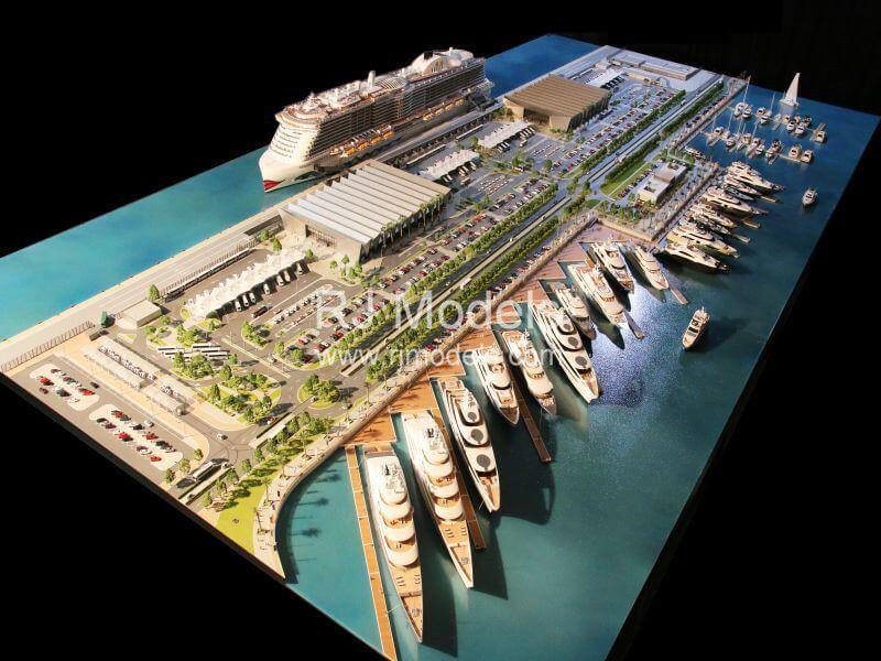 Architectural model building project, Dubai Harbor.