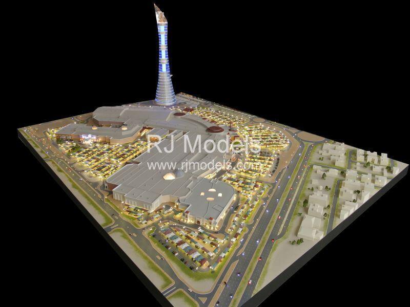 Architectural building model for Doha Villaggio Mall