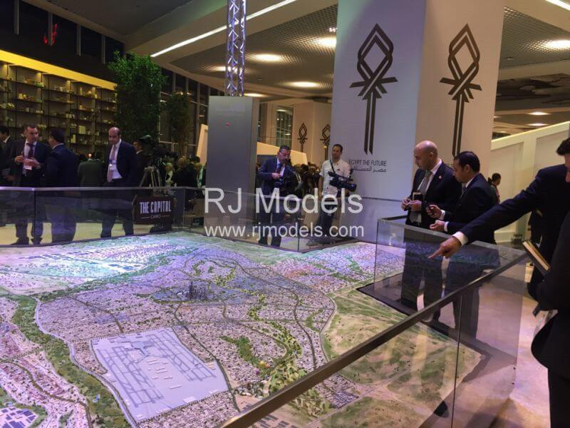 Architectural model building project, City Planning Model of New Cairo