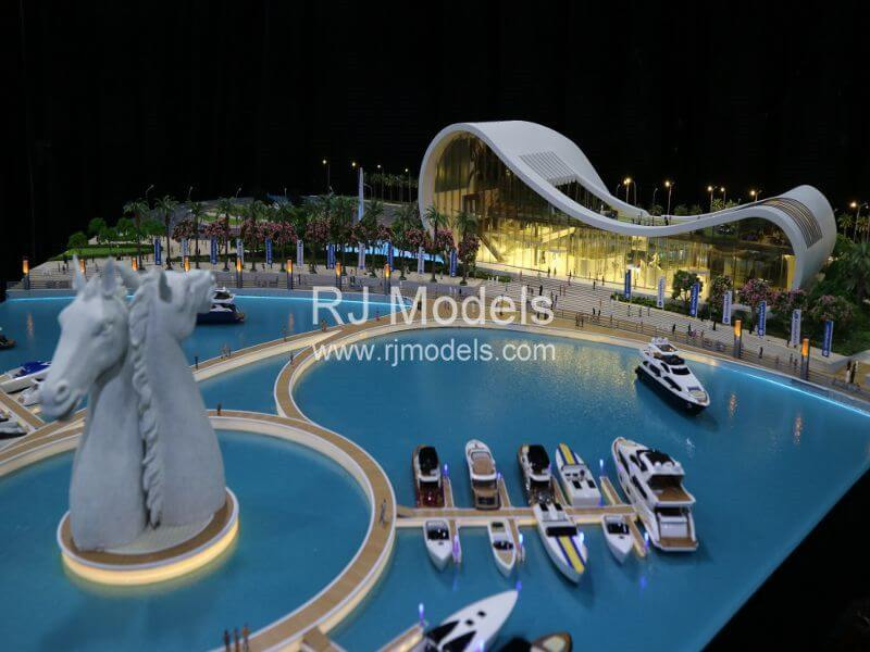 Architectural model building project, Godolphine Museum in Dubai