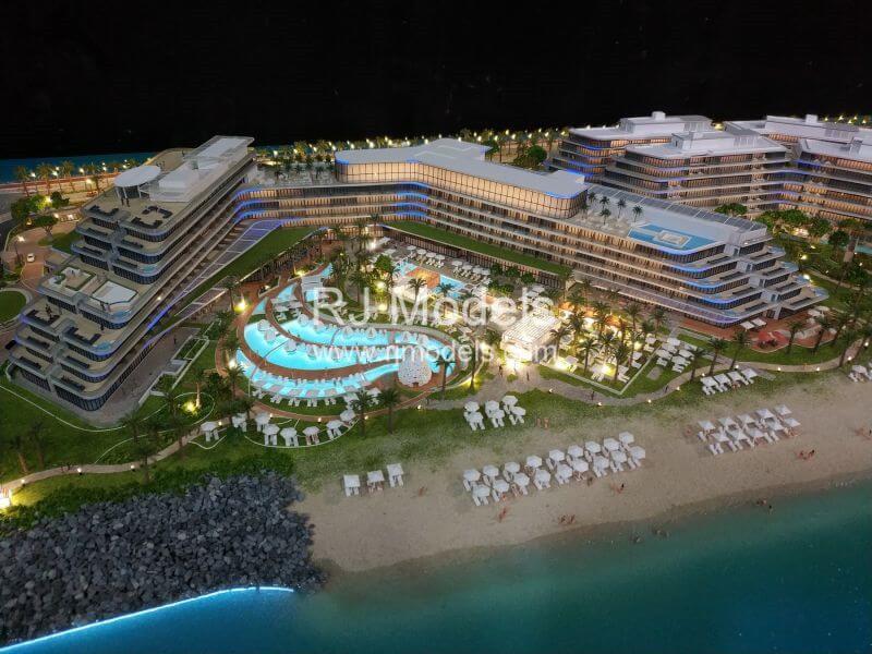 Architectural model building project, W hotel building model in Dubai
