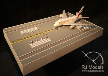 Model of Dubai Police Pull A380 Airport Story