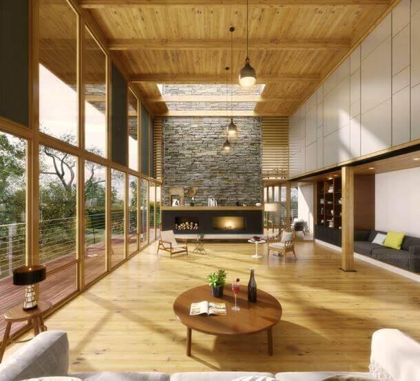 Interior 3D architectural rendering